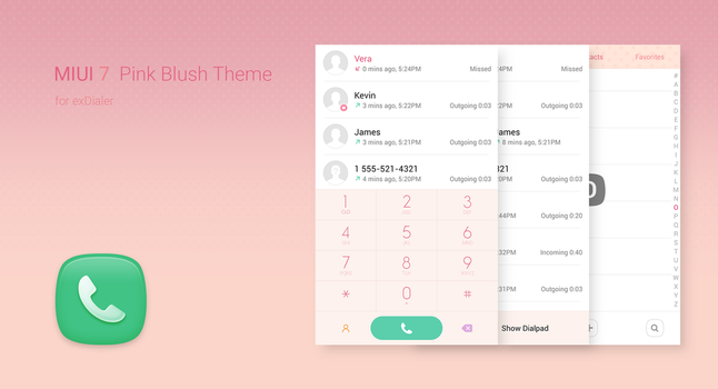 ExDialer MIUI Pink Blush Theme by aleontev