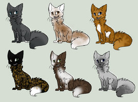 Free Cat Adoptables - CLOSED by Icepetal21