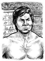 Bolo Yeung sketch card by dalgoda7