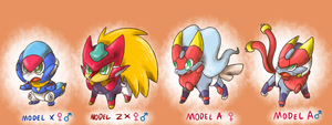 Megamon Zx and Advent by thegreatrouge