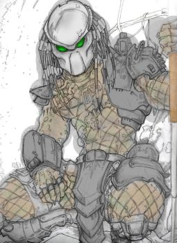 predator - color -WIP by ChargedGraphite