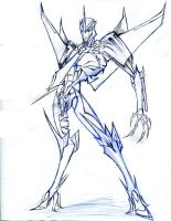Starscream - pen sketch by winddragon24