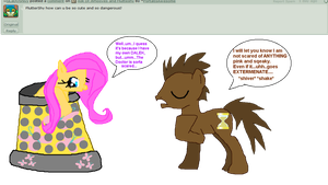 Ask Fluttershy and Dr.Whooves by JustWestOfWeird
