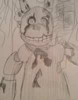 The Mysterious Golden Animatronic - Fnaf 3 by pokemon7777