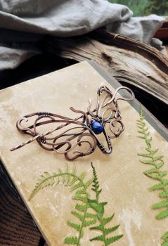 Hair pin Blue Butterfly by UrsulaJewelry