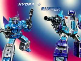 Hydra and Buster 2 by Klunker-Decepticon