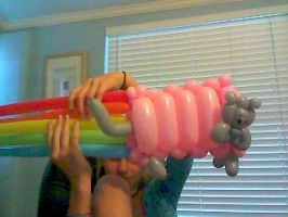 NYAN CAT BALLOON ANIMAL by RainbowPains