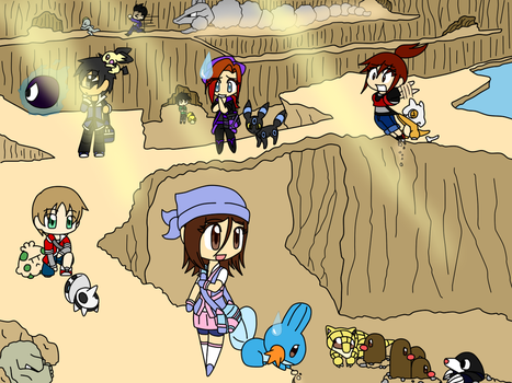 Pokemon Cliffs by SazukaXDeidara4Ever
