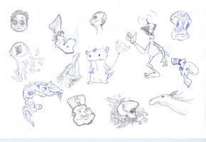 Characters sketches 02 by maxspider