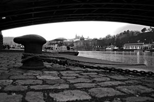 Prague waterfront by tomsumartin
