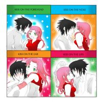 Sasuke and Sakura kiss meme by DramaQueen14