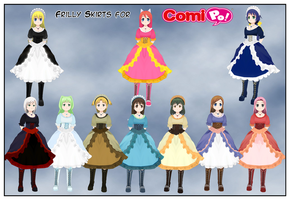 Frilly Skirts For Comipo by Lady-Aurora-Moon