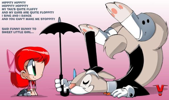 Little Foster and Funny Bunny by bleedman