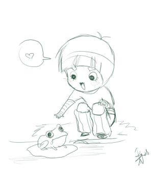 Lee meets a frog by nocturnalMoTH