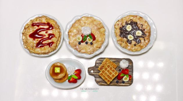 Breakfast Crepes, Pancakes, and Waffles by TheMicroBakery