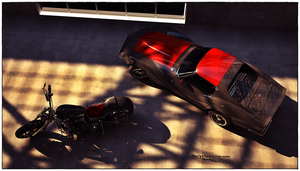 Corvette Stingray Coupe 1973 - Empire 2eighty bike by Yorzua