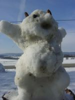Snow Golem! by EricGroff