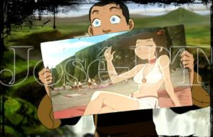 sokka y ty lee by Jose-PT