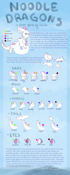 Noodle Dragons | Closed Species sheet by miIkypawz