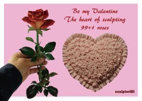 99 Plus 1 Roses - Happy Valentine's Day!! by sculptor101