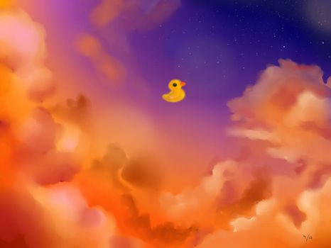 Duck in the sky by ZipperZoned