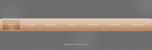 Clean Navigation Bar PSD by WillyEpp