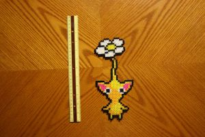 Yellow Pikmin Perler by Claymmdude