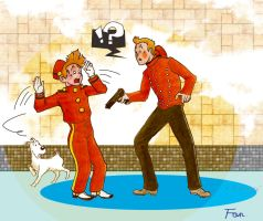 Crossover: Tintin meets Spirou by h37102468