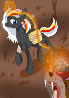 Velvet Remedy Vs Hell hound by Derpsonhooves