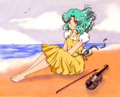 Sailor Neptune at the Beach by aleena