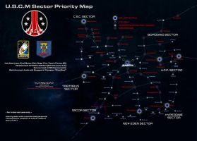 USCM Sector Priority Map (ALIENS) by stratomunchkin