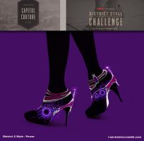 Hunger Games - District 5 Shoe Design - no.13 by lizzomarek