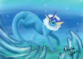Vaporeon by recycled-batteries