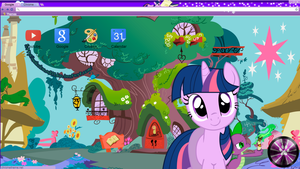 (Updated) Twilight Sparkle Google Chrome Theme by NekoKawaii11