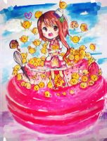 Magical Girl Onodera w/ Chicks by Anis-Rin