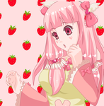Strawberry girl(Art.Trade) by Runo2