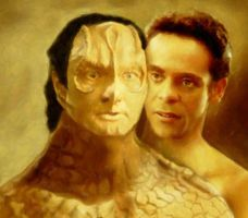 Garak and Bashir by karracaz