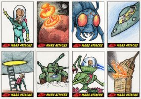 Heritage Mars Attacks! Sketch Cards - 06 by Monster-Man-08