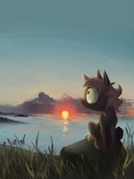 Midnight sunlight by animegoatass