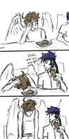 Adventures of Ike and Pit- Cannibalism by Prince-Marusu