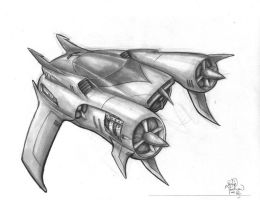 Cruiser Fighter Ship thingy by sykoeent