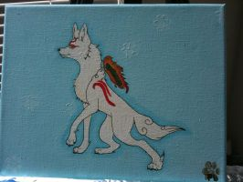 Okami Painting by Wolf-mutt
