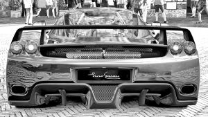 Black and White Enzo by whendt