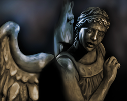 Weeping Angel speedpaint/sketch by beth193