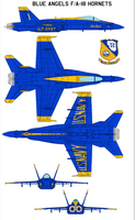 Blue Angels FA-18 Hornets by bagera3005