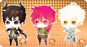 Auction : RandomMale Chibi Set 3 [CLOSED] by HyRei