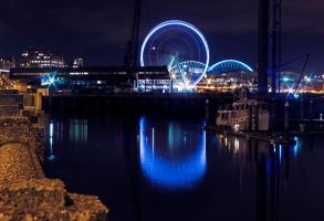 Wheel at night 2a by Mackingster