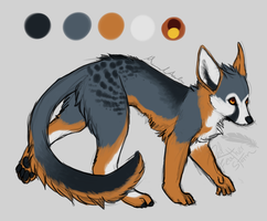 Foxkey - Custom Design Commission by DrizzleSnow