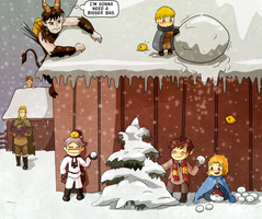 Krampus is coming to town -Chibi Prussia by Arkham-Insanity
