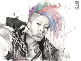Freedom Fighter: portrait of Miyavi by Shinigami-uta